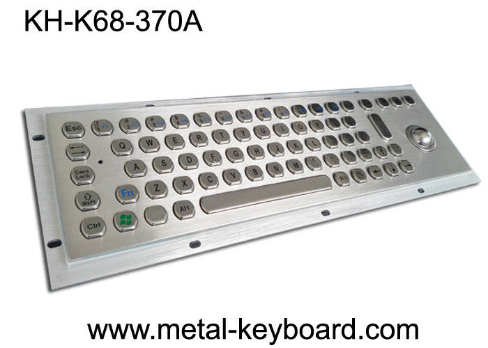 IP65 Explosion Proof Keyboard , Metal Industrial Keyboard With Trackball