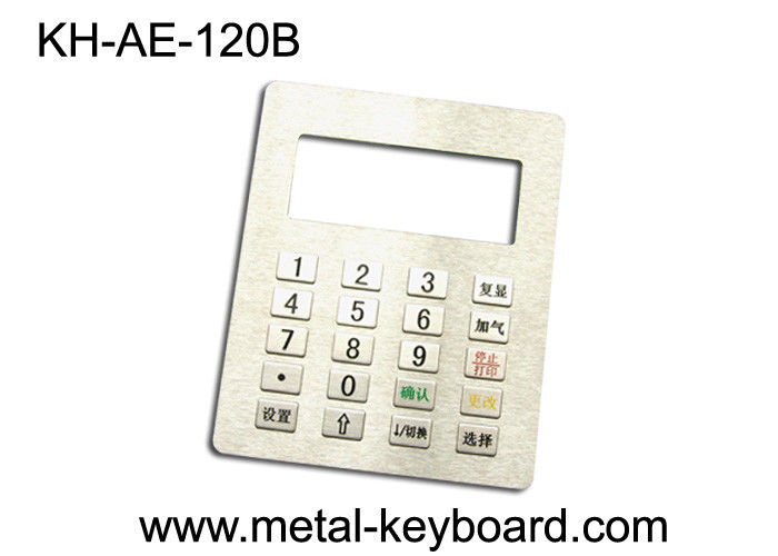 4 x 5 Metal Panel Mount Keypad with 20 Keys In 4x5 Matrix For Gas Station