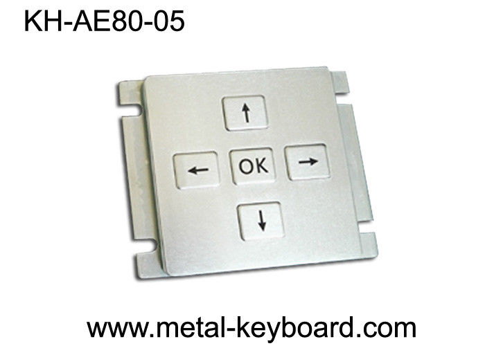 Customizable Stainless Steel Keypad 5 Keys For Industrial Console Area