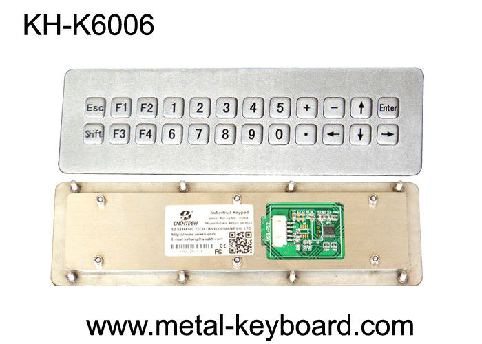 USB Port Industrial Customized weatherproof keypad , 24 Keys rugged keypad Metal