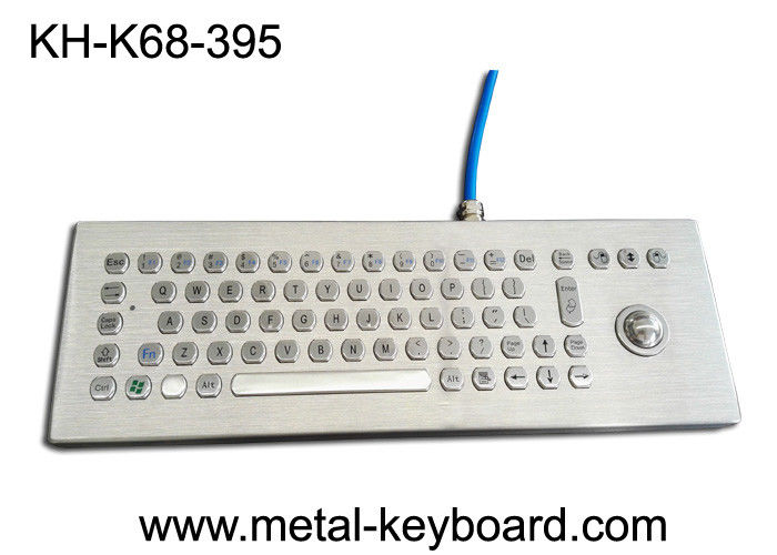 Desktop Rugged Metal Industrial Computer Keyboard with Trackball Mouse