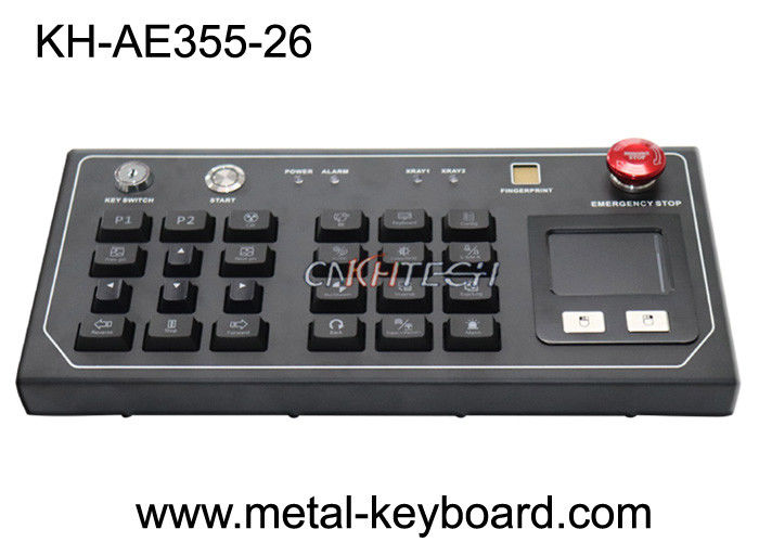 Resistant Ruggedized Desktop Keyboard with Plastic buttons and metal panel