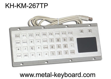 چین Custom Mine Vandal proof Metal Panel Mount Keyboard with Touchpad Mouse کارخانه
