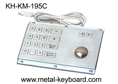 چین Rugged Stainless Steel Panel Mount Keyboard with Trackball IP65 Rate Dustproof کارخانه